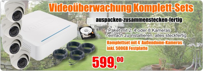 Video�berwachung Komplett-Sets